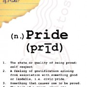 Happy Pride: (003) Definition of Pride?
