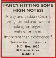 Original gloria advert March 1995